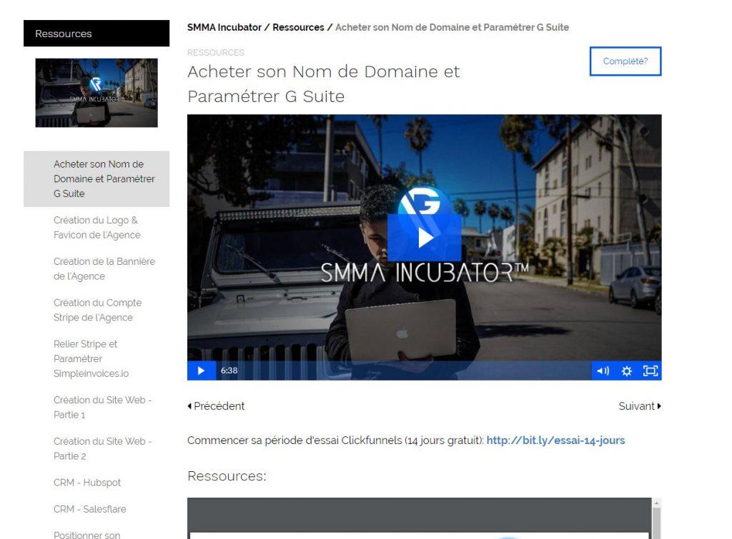 Les ressources de SMMA Incubator